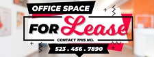 Office Space For Lease Banner Business Retail Full Print Vinyl Sign 4' x 10'
