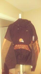Vintage Cleveland Browns Throwback Pullover Starter Jacket XL New! NFL