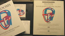 Two Rooms celebrating the Songs of Elton John Bernie Taupin-CD + VHS + LIBRO
