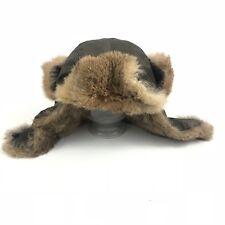 Theory womens aviator 100% genuine rabbit fur hat Hogan Altair one size