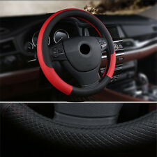 Luxury Sporty Car Steering Wheel Cover PU Leather 38cm Anti-slip Breathable