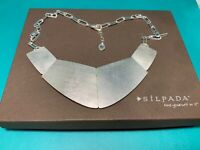 "SILPADA .925 Sterling Silver ""Saturday Knight"" Collar  Necklace"