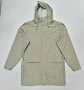 New RAINS Camp Jacket Coat Waterproof in Moon Grey Size S/M