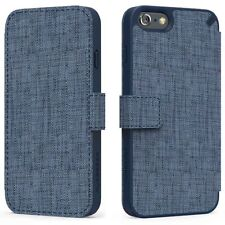 PureGear Express Folio Card Holder Stand Wallet Case For iPhone 6/6S Blue Denim
