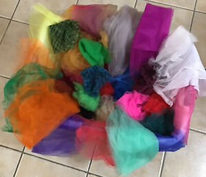 NEW Tulle Nylon Fabric Big Lot 20+ Colors by Yard,Half Yard,Quarter & Remnant