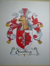 9 X 12 Hand Illustrated COAT OF ARMS on 100lb Bristol Paper -   painted crest'_