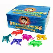 Box of 84 Stretchy Jungle Animal Toys - Wholesale Childrens Pocket Money Toys