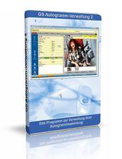 GS Autogramm-Verwaltung 2 - Software zur Verwaltung Ihrer Autogrammsammlung