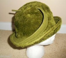 Hat Cloche Green Gwenn Pennington Exclusive Fuzzy Empress Made Western Germany