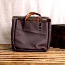Purple Leather Tote - Office bag - Leather Laptop Handbag - Market Women Tote