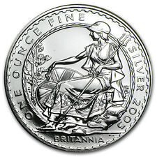 2005 Great Britain 1 oz Silver Britannia BU - SKU #5979
