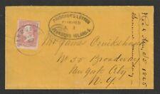 P.O.W. CIVIL WAR Prisoner of War 1865 Cover JOHNSON'S ISLAND PRISON to New York
