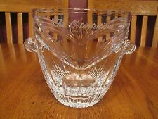 """Nice Marquis By Waterford Crystal Calais Ice Bucket Engraved """"The Ostentatious"""""""