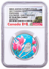 2017 Canada Birds Nature's Colors Chickadee 1/2oz Silver NGC PF70 UC ER SKU47038