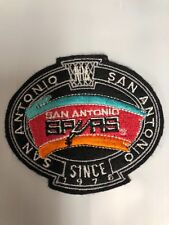 Nba Vintage San Antonio Spurs 4 3/4 Inch Sew On Patch
