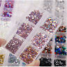 1 Box Crystal Flat Back Nail Art Festival Rhinestones Gems 3D Gems Manicure