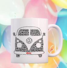PERSONALISED 10oz VW CAMPER VAN MUG BESPOKE GIFT UNIQUE PERSONAL BIRTHDAY