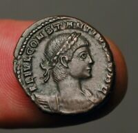 Z-499 Constantius II, as Caesar, AD324-337AD Trier mint. Soldiers with standards