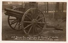 Captured German Gun Town Hall Brighton 1915 unused RP old pc E Hilton