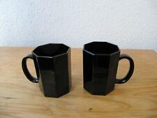 2 Mugs Kaffeebecher Kaffeetassen große Tassen Luminarc Arcoroc Octime schwarz