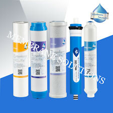 Full 5Stage Reverse Osmosis System Replacement Filter Set with 50GPD RO Membrane