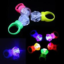 10Pcs LED Finger Lights Party Laser Finger Light Up Beam Torch Glow Ring NEW
