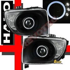 Black Halo Angel Eye LED Projector Headlights For 2003-2006 Honda Element
