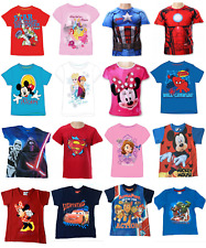Boys & Girls Character T-shirt & Tops Marvel DC Disney 18 Months To 10 Years