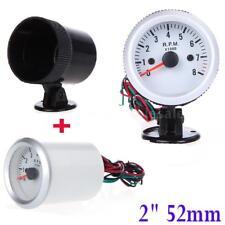 "Car Auto 2"" 52mm Digital Blue LED Tacho Tachometer Gauge 0-8000 RPM Blue US U9U0"