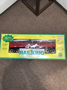 MTH Rail King 70-79006 Pardee & Curtain Operating Flat Car - NEW - G / One Gauge