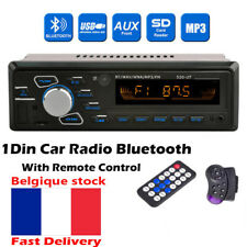 Radio Voiture Autoradio 1DIN Bluetooth lecteur mp3 Stereo Head Unit FM/USB/AUX