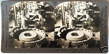 Keystone Stereoview Curing Automobile Tires in Akron, OH from 1930's T600 Set #B