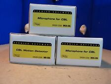 Vernier Software 2x MCA-CBL microphones & MD-CBL motion detector [1L]
