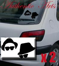 2 X Blues Brothers coche Laptop Espejo Puerta Pared Arte Adhesivo De Vinilo Autoadhesivos