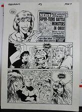 JACK KIRBY'S TEENAGENTS #3 PAGE 7 1993 ORIGINAL ART-NEIL VOKES & JOHN BEATTY