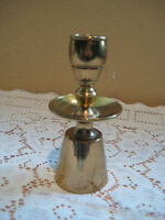 Heavy Vintage Brass Candle Holder With Rare Shape