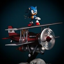 "17"" Sonic the Hedgehog ""The Tornado"" Diorama by First 4 Figures *Never Opened*"