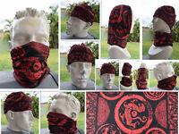 Head/Face/Mask/Neck Multi-wear tube Bandana/Durag. SPF5, Scarf/Wrap. Dragon 077