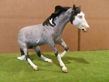 Breyer classic custom blue roan pinto reining horse Hollywood Dun It mold