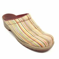 Women's Sanita Mules Clogs Shoes Size 41 EU/10M US Striped Nursing Slip On AG8