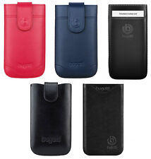 Genuine Bugatti Leather Slide in Case Cover Pouch Sleeve for Various Smartphones