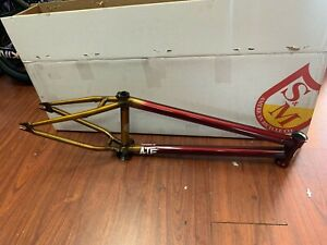 "S&M BIKES ATF FRAME 20.5 TRANS RED GOLD FADE BMX BIKE 20.5"" CLEAR"