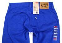 Levi's Strauss 514 Men's Original Slim Fit Straight Leg Jeans Blue 514-0446