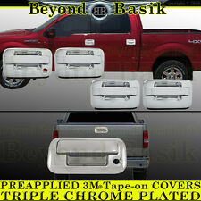 2004-2014 FORD F150 Chrome Door Handle COVERS W/o Keypad noPSK 4Door+Tailgate NC