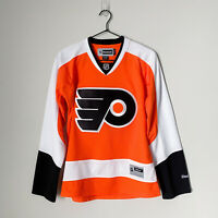 Reebok Womens Philadelphia Flyers Jersey Size Small Orange Hockey NHL