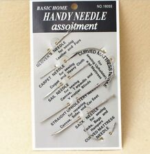 1 set Basic Home Handy Needle DIY Assortment Hand Sewing Triangle Curved Leather