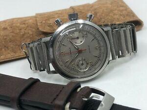 Vintage Mens Swiss Chronograph + Bonklip Style Bracelet (Chronographe Suisse)