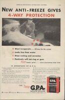 1932 Vintage Ad GPA Radiator Glycerine New Anti Freeze