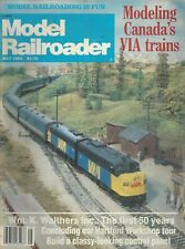 MODEL RAILROADER (May 1982) Modeling Canada's VIA Trains / Wm. K. Walthers ~F366