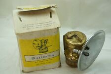 VINTAGE CARBIDE LAMP BUTTERFLY NO 604 WITH BOX MINERS LANTERN LIGHT BRASS d